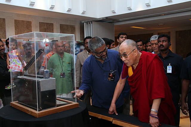Sethu Das with HH the Dalai Lama