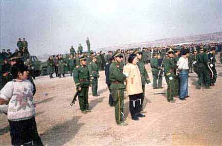 Execution of Tibetans by the Chinese Forces (2)