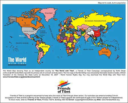 Your Right To Have The Right Map Friends Of Tibet