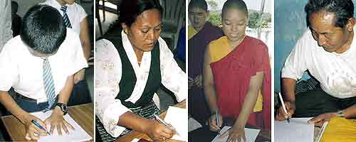 Hands for the Panchen Lama Campaign in Orissa