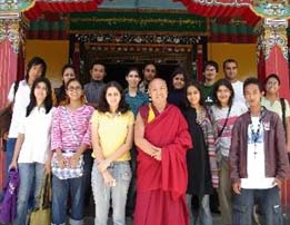 Some of the Tibet Summer Camp team members with Venerable Lhakdor la