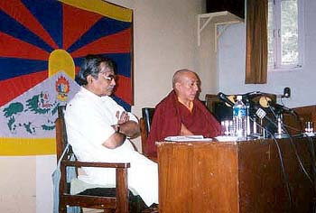 Prof Samdhong Rinpoche Delivering His Speech on Hind Swaraj