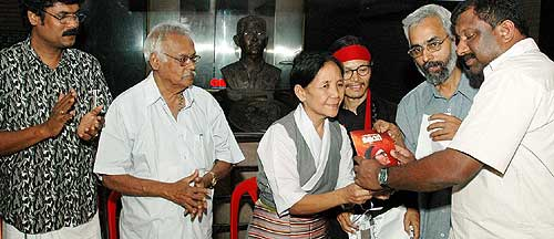 The Malayalam translation of Tenzin Tsundue's 'Kora' was released on January 2, 2007. The book translated into Malayalam by journalist RK Bijuraj was released at a function held at Ila Bookshop. Acha Lhakpa, a senior Tibetan living in Cochin handed over the first copy of the book to MA Shanavas, Editor of Madhyamam Weekly. The function was presided over by CR Neelakandan (Environmentalist), NN Sathyavarthan, (Director, Kerela Press Academy) and six Malayalam poets attended the function.