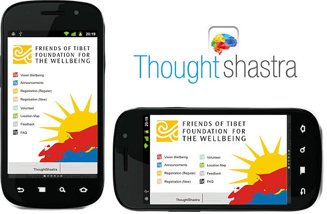 Screenshot of Wellbeing Mobile App developed by ThoughtShastra Solutions, Mumbai'.